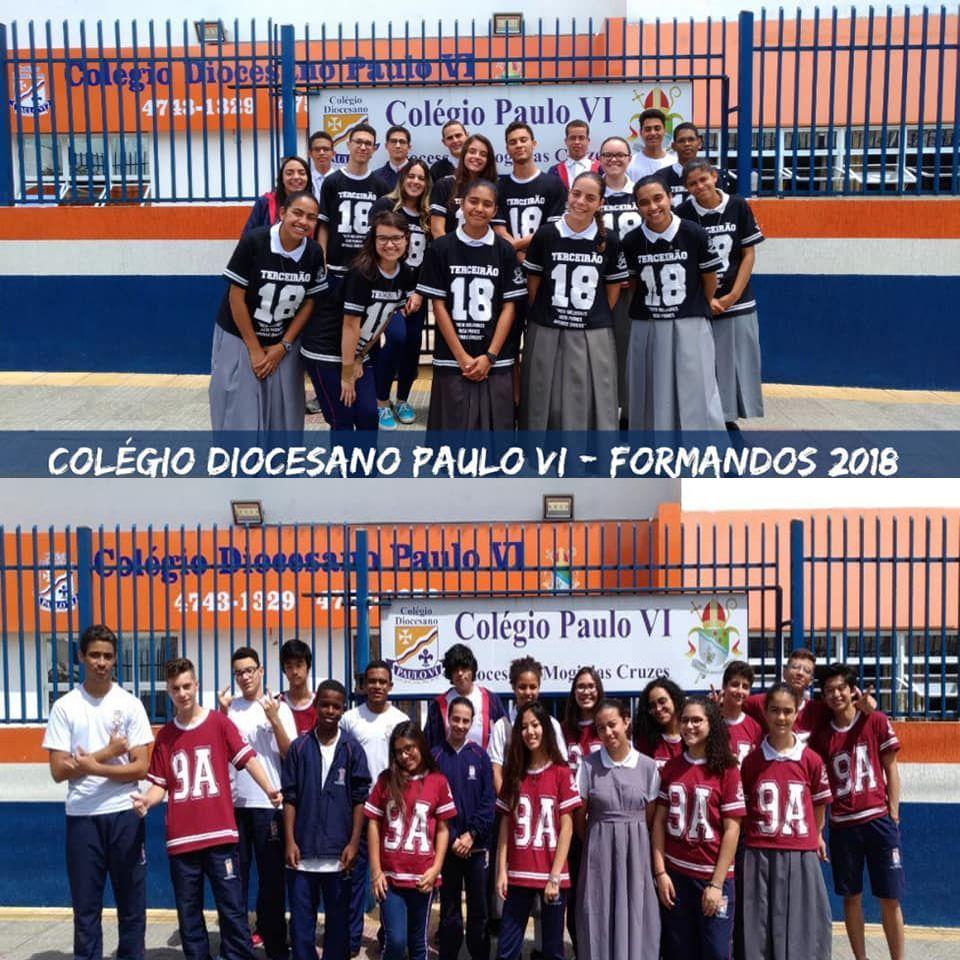 Formandos do 9º Ano e 3ª série - Ensino Fundamental II e Médio - 2018 - Colégio Diocesano Paulo VI